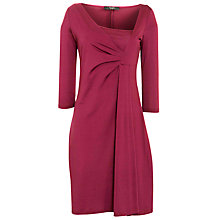 Buy Weekend by MaxMara Faux Wrap Dress, Dark Red Online at johnlewis.com