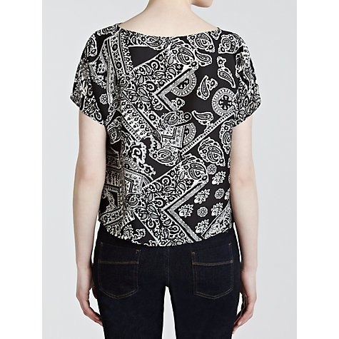 Buy Lauren by Ralph Lauren Printed Boat Neck Top Online at johnlewis.com
