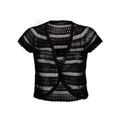 Buy Lauren by Ralph Lauren Capped Sleeve Bolero, Black Online at johnlewis.com