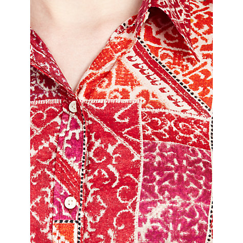 Buy Lauren by Ralph Lauren 3/4 Sleeve Shirt, Red Online at johnlewis.com