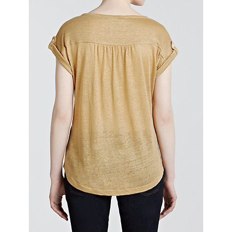 Buy Lauren by Ralph Lauren Printed Boat Neck Top, Metallic Gold Online at johnlewis.com