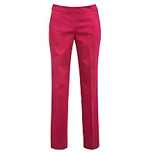 Buy Lauren by Ralph Lauren Slim Smart Trousers, Pink Garnet Online at johnlewis.com