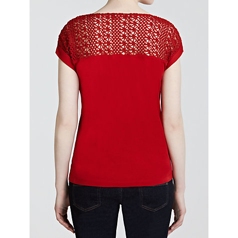 Buy Lauren by Ralph Lauren  Crochet Boat Neck Top Online at johnlewis.com