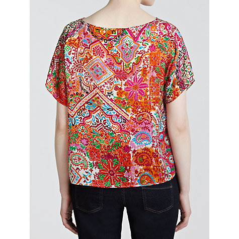 Buy Lauren by Ralph Lauren Boat Neck Top, Cream Multi Online at johnlewis.com