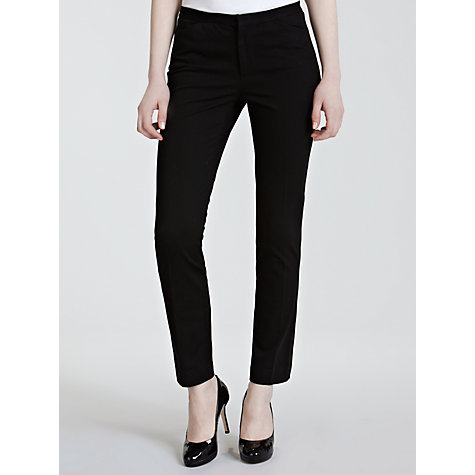 Buy Lauren by Ralph Lauren Slim Smart Trousers, Black Online at johnlewis.com