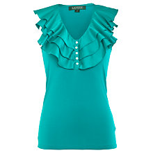 Buy Lauren by Ralph Lauren Ruffle Neck Top Online at johnlewis.com