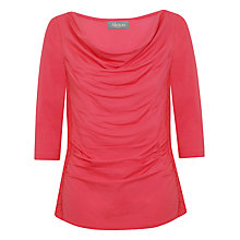 Buy Alexon Cowl Neck Laced Top, Coral Online at johnlewis.com