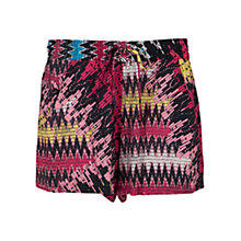 Buy French Connection Zig Zag Ethnic Shorts, Black/Blush/Strawberry Sorbet Mix Online at johnlewis.com