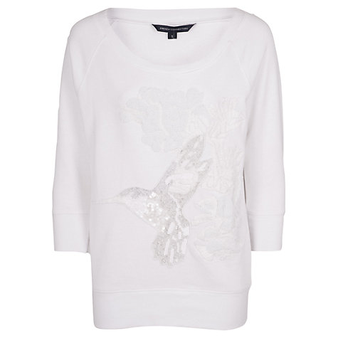 Buy French Connection Paradise Knitted Top, White Online at johnlewis.com