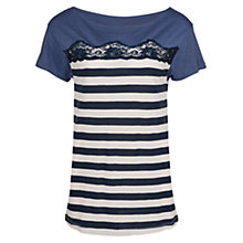 Buy French Connection Lacey T-Shirt, Cornflower Blue Online at johnlewis.com
