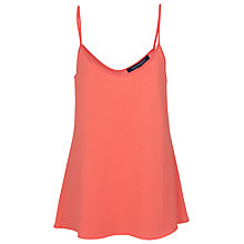 Buy French Connection Polly Plains Vest Top, Coral Online at johnlewis.com