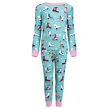 Buy Hatley Girls' Skate Pyjamas, Blue/Multi Online at johnlewis.com