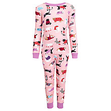 Buy Hatley Girls' Sweater Cats Pyjamas, Pink Online at johnlewis.com