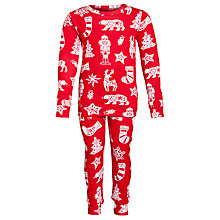 Buy Hatley Girls' Christmas Pyjamas, Red Online at johnlewis.com