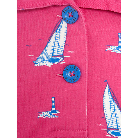 Buy Little Joule Cowdray Sweatshirt, Hot Pink Boat Online at johnlewis.com