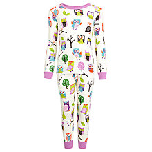 Buy Hatley Girls' Party Owls Pyjamas, Purple/Multi Online at johnlewis.com