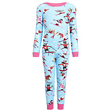 Buy Hatley Girls' Skiing Dog Pyjamas, Blue/Multi Online at johnlewis.com