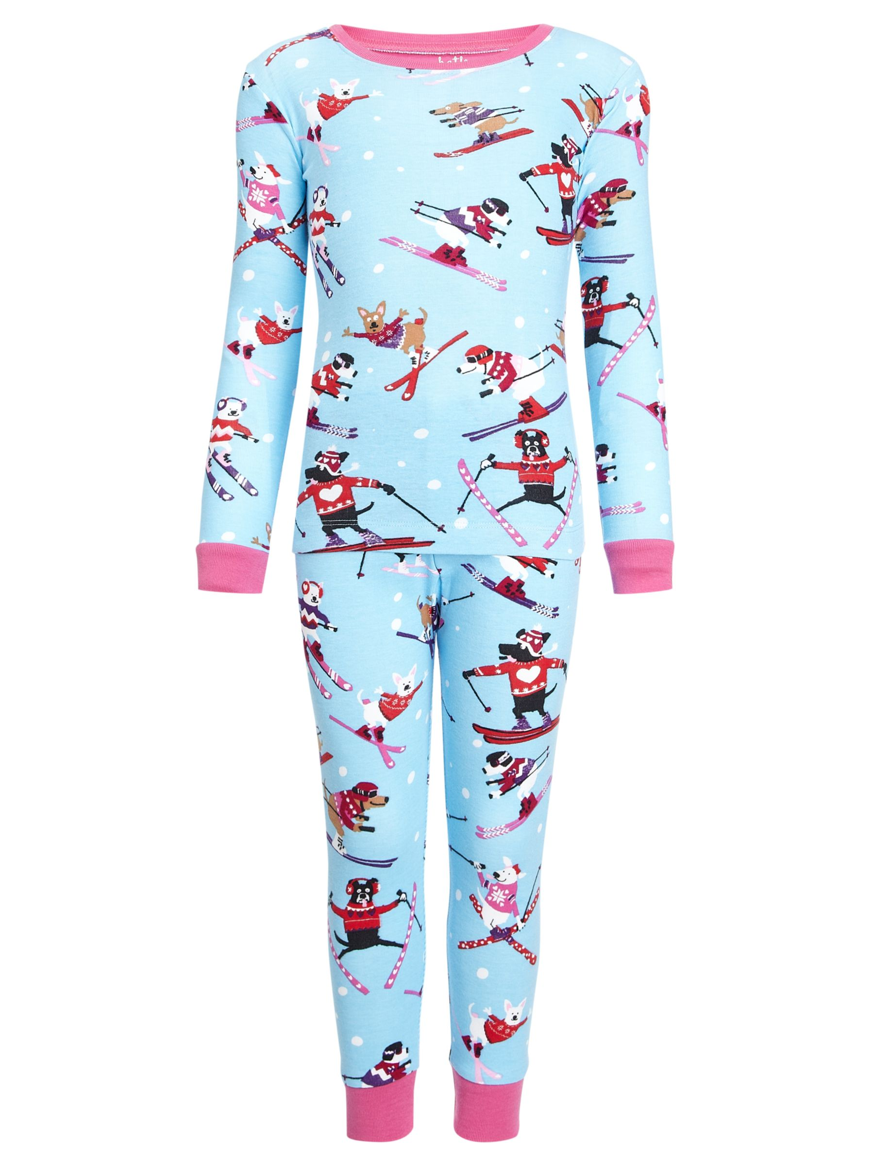 Hatley Skiing Dog Pyjamas, Multi