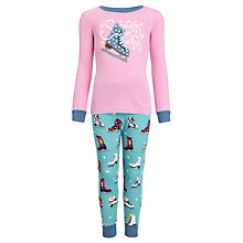 Buy Hatley Girls' Life On the Edge Pyjamas, Pink/Blue Online at johnlewis.com