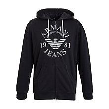 Buy Armani Jeans Large Logo Zip Hoodie Online at johnlewis.com