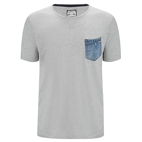 Buy Diesel T-Thunder Denim Pocket Crew Neck T-Shirt Online at johnlewis.com