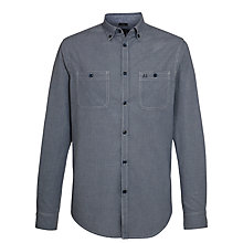 Buy Armani Jeans Tonal Puppytooth Shirt, Navy Online at johnlewis.com
