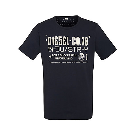 Buy Diesel T-Nuck Graphic Crew Neck Short Sleeve T-Shirt Online at johnlewis.com