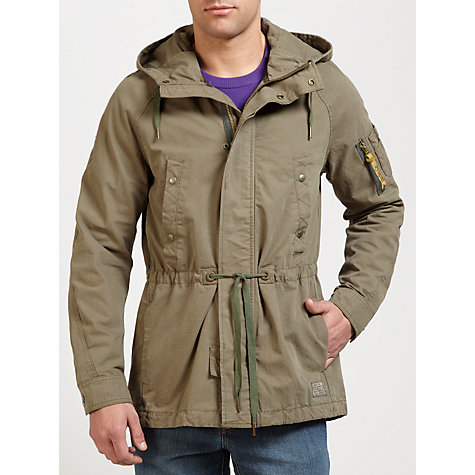 Buy Diesel J-Lowello Canvas Lightweight Parka Jacket Online at johnlewis.com