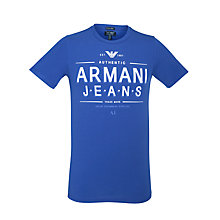 Buy Armani Jeans Logo Print Short Sleeve T-Shirt Online at johnlewis.com