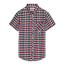 Buy Ben Sherman Laundered Check Short Sleeve Shirt Online at johnlewis.com