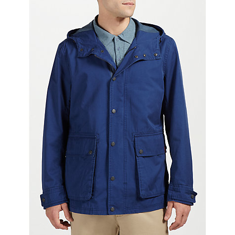Buy Ben Sherman Lightweight Washed Parka Jacket, Blue Online at johnlewis.com
