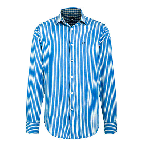 Buy Armani Jeans Regular Fit Stripe Long Sleeve Shirt Online at johnlewis.com