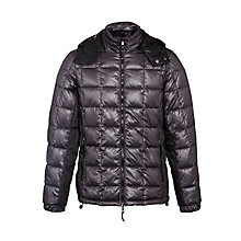 Buy Armani Jeans Reversible Puffer Jacket, Black Online at johnlewis.com