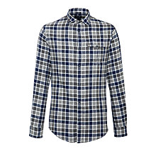 Buy Armani Jeans Flannel Check Shirt, Navy/Grey Online at johnlewis.com
