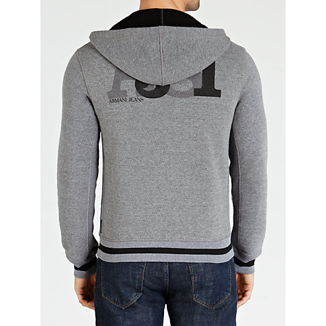 Buy Armani Jeans AJ 81 Zip Hoodie, Dark Grey Online at johnlewis.com