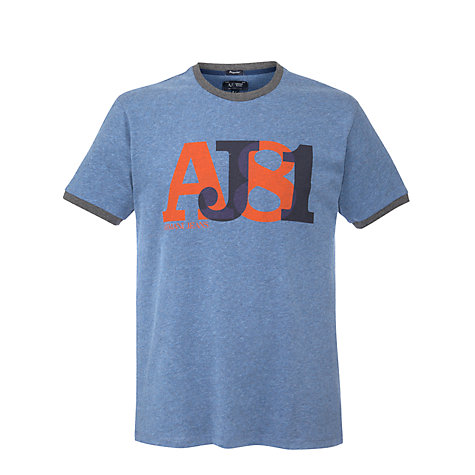 Buy Armani Jeans AJ81 Logo Short Sleeve T-Shirt Online at johnlewis.com
