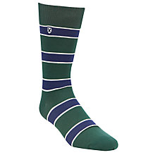 Buy Barbour Hexham Seaweed Stripe Socks, Green/Blue Online at johnlewis.com