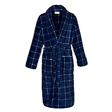 Buy John Lewis Box Fleece Robe, Blue Online at johnlewis.com