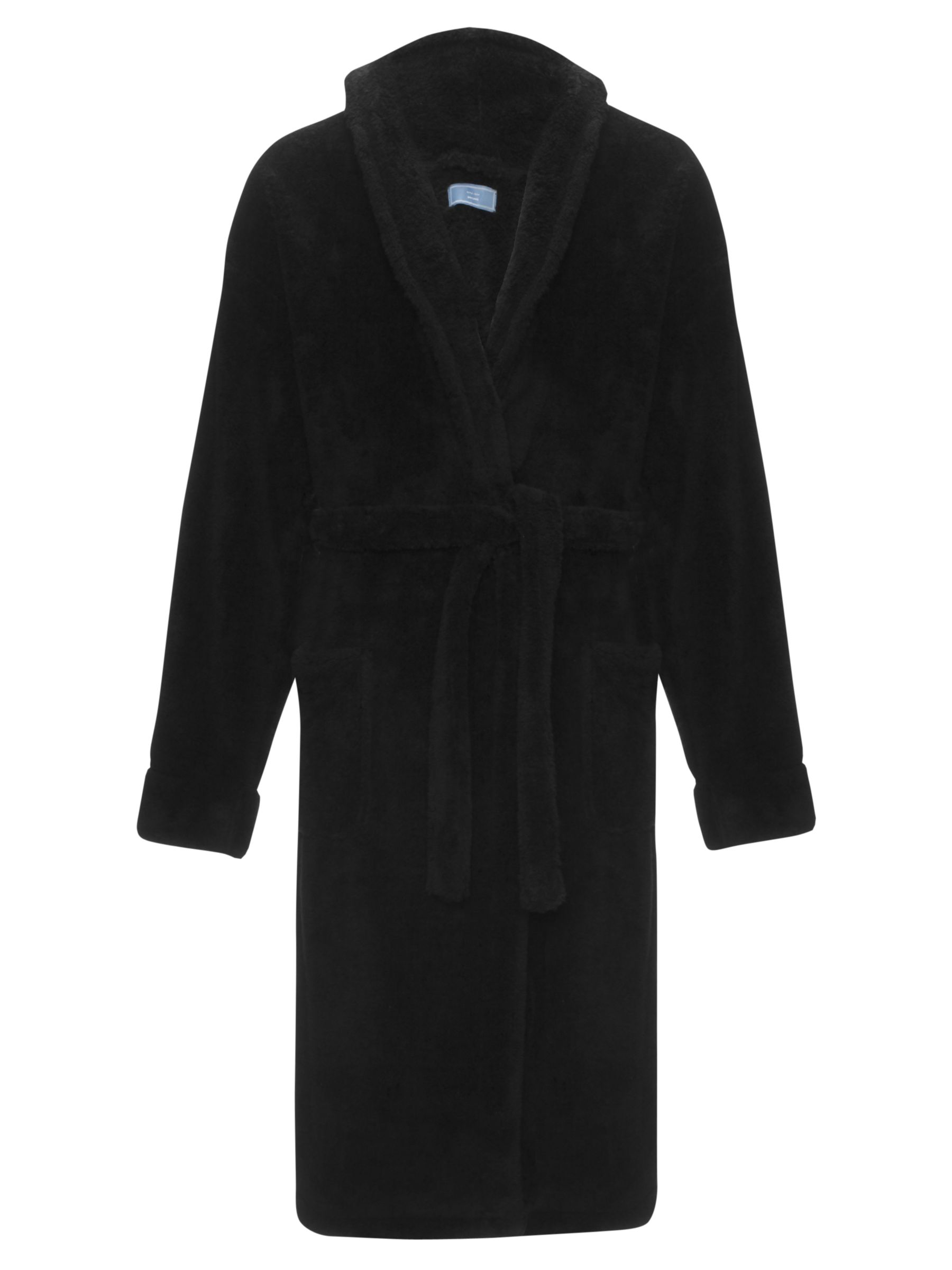 John Lewis Sheared Fleece Robe, Black