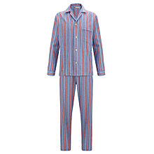 Buy Derek Rose Savile Row Stripe Cotton Pyjamas Online at johnlewis.com
