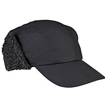 Buy Barbour Tyne Trapper Wax Cap, Black Online at johnlewis.com