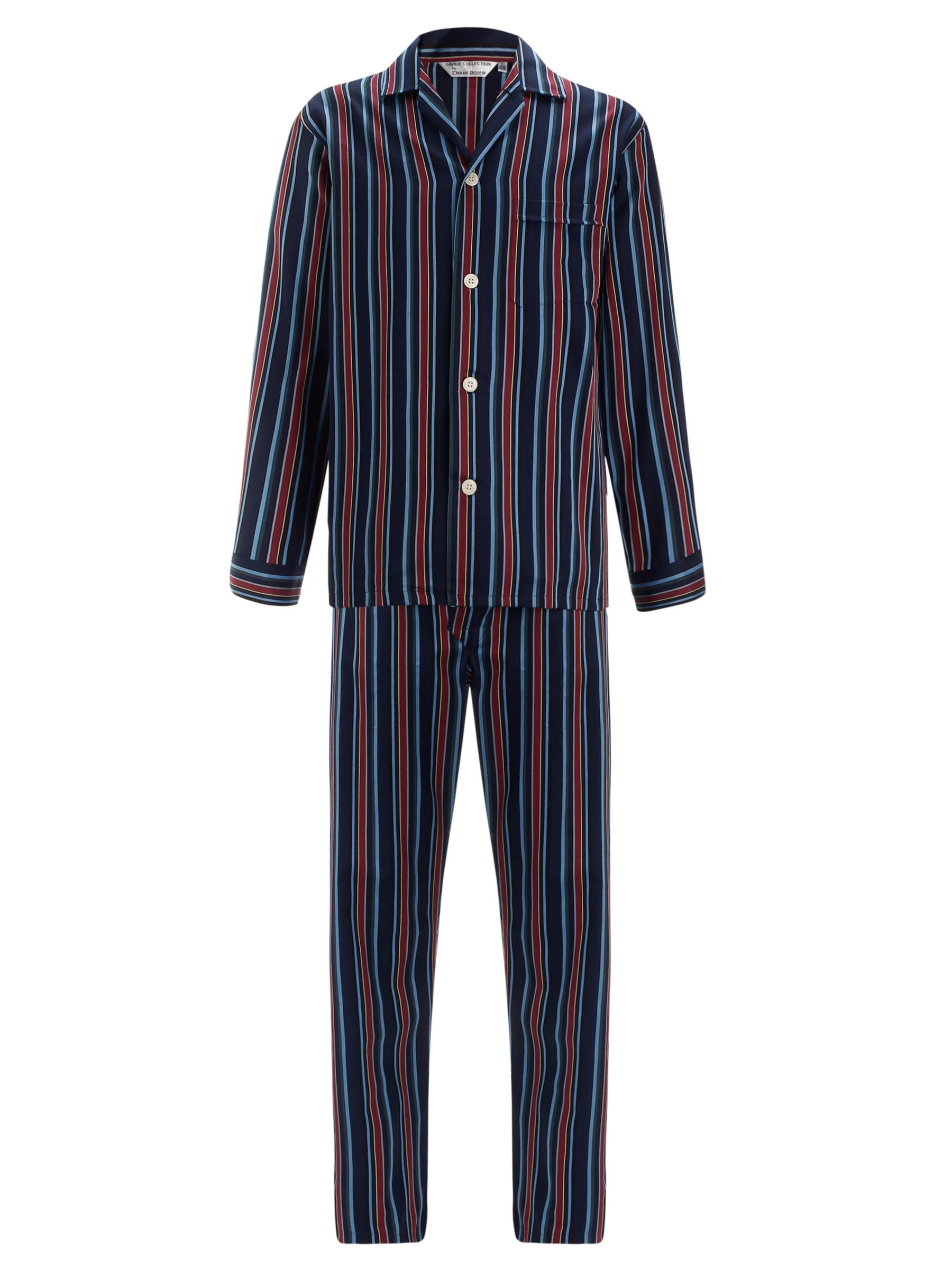 Derek Rose Savile Row Stripe Cotton Pyjamas