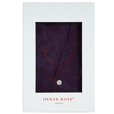 Buy Derek Rose Arlo Star Print Pyjamas, Purple Online at johnlewis.com