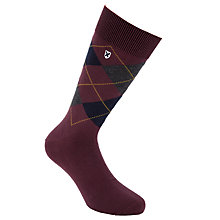Buy Barbour Birtly Argyle Socks, Red Online at johnlewis.com