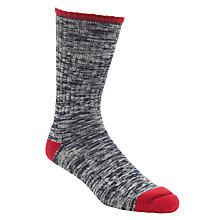 Buy Barbour Kendal Heel and Toe Socks, Grey/Red Online at johnlewis.com