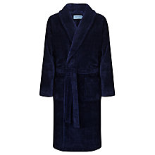 Buy John Lewis Super Soft Towelling Robe, Navy Online at johnlewis.com