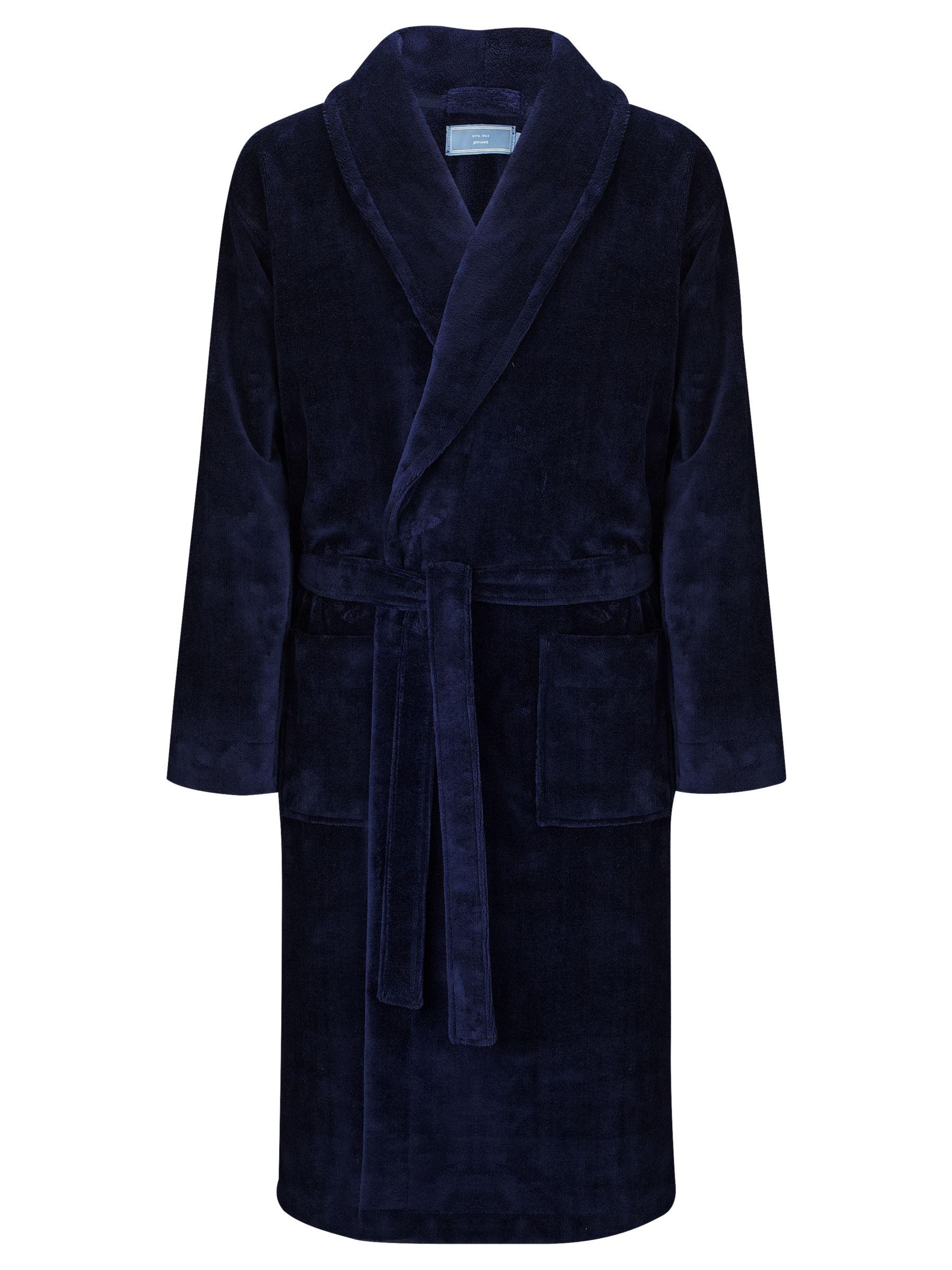 John Lewis Super Soft Towel Robe, Navy