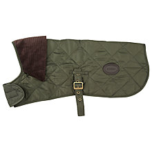 Buy Barbour Quilted Dog Coat, Olive Online at johnlewis.com