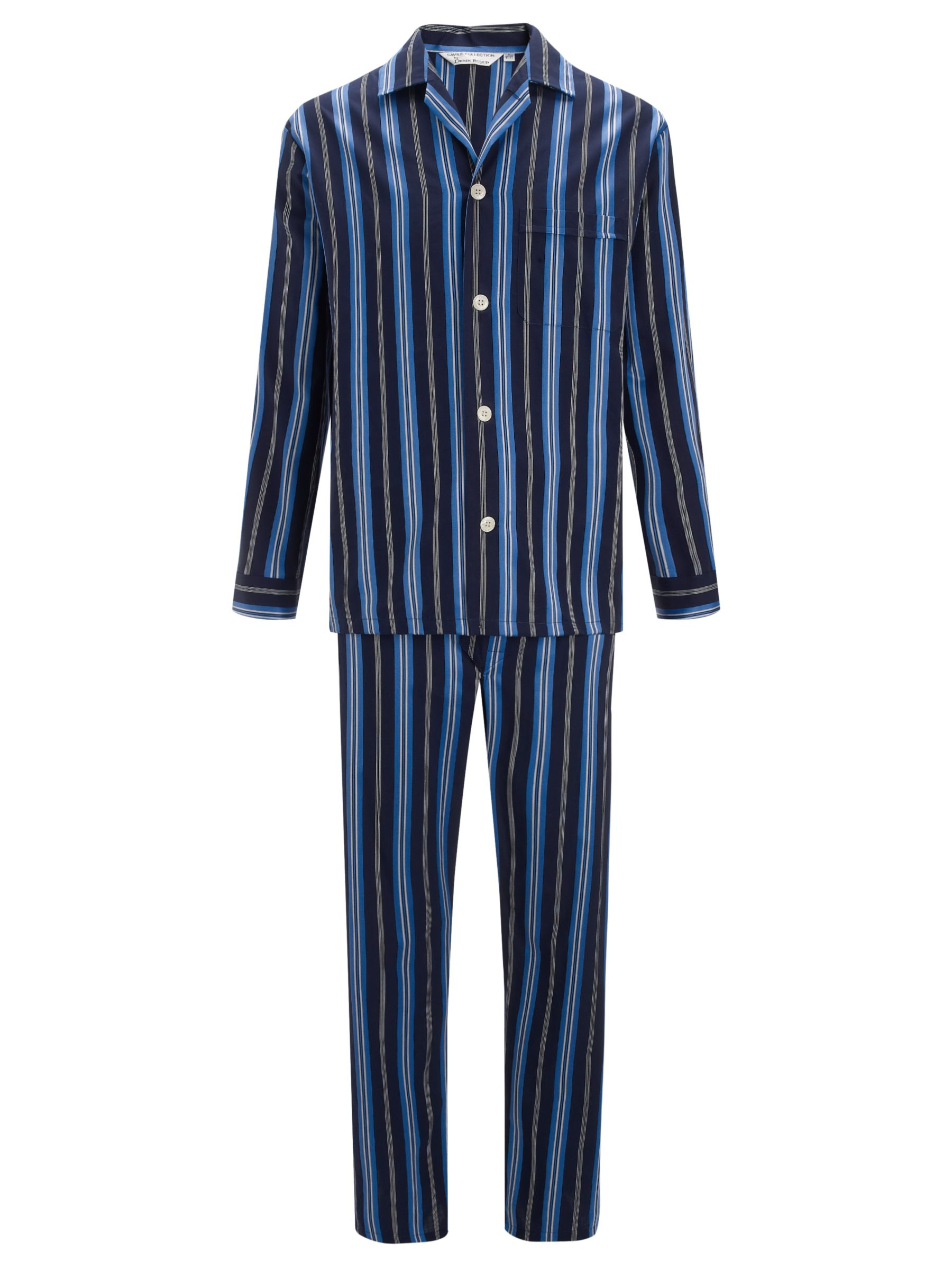 Derek Rose Savile Row Satin Stripe Cotton Pyjamas