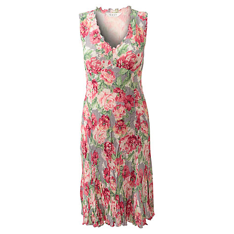 Buy East Louisa Flower Dress, Light Steel Online at johnlewis.com